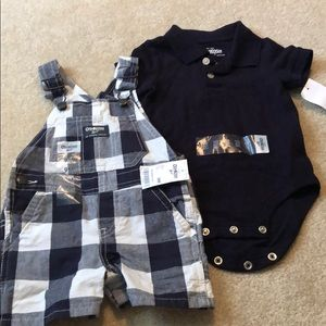 Onside and overall outfit - 9mo